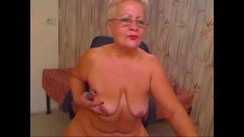 Pervert Grandma Having Fun On Web Cam. Real Amateur 2 Mins